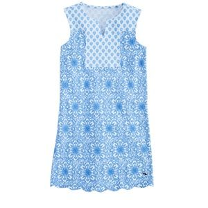 Vineyard Vines Girls Medallion Knit Shift Dress